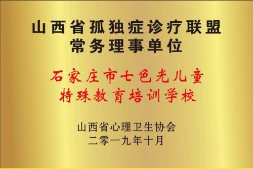 山西省孤独症诊疗联盟常务理事单位